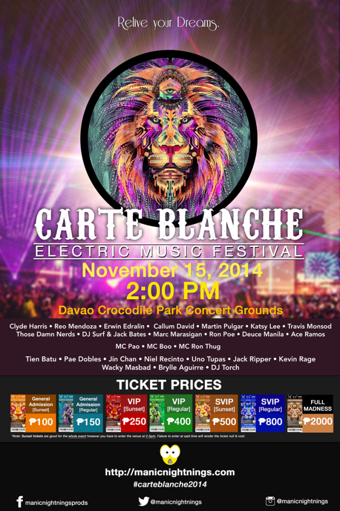 Carte Blanche 2014 Poster